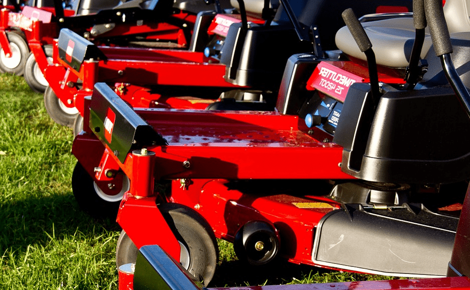Brand new zero turn mowers.