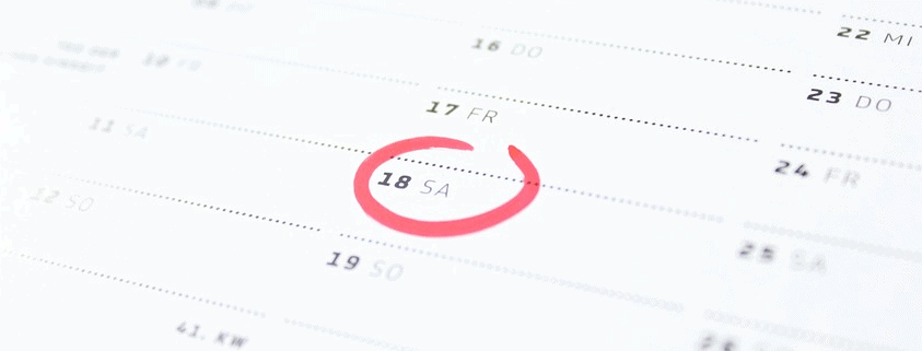 A date circled for a monthly zero turn payment.
