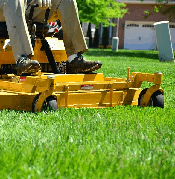 A zero turn mower that is likely better than a lawn tractor.